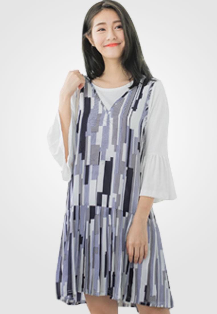 Abstract Shapes Dropwaist Dress