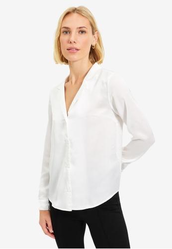 Trendyol white Ecru Shirt EE8DDAAB3F0746GS_1