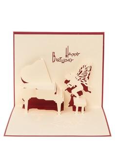 Pop Cards Manila Birthday Red Piano