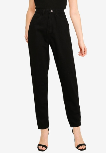 MISSGUIDED black Tall Riot High Waisted Mom Jeans 54CEDAA683DE8CGS_1