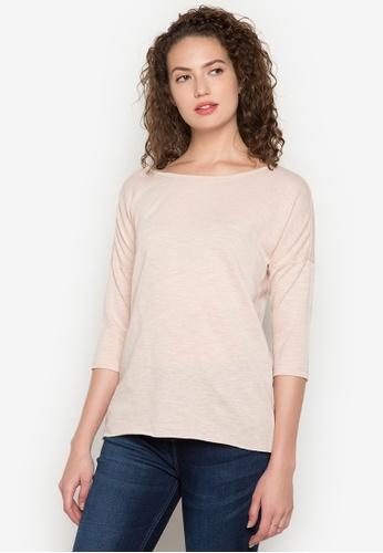 Bobson beige Dolman Sleeves Slub Jersey T-Shirt BO748AA0K5H3PH_1