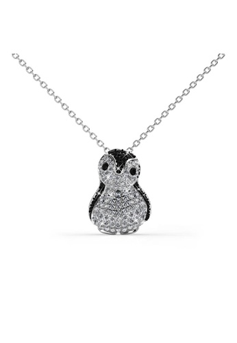 Buy her jewellery penguin pendant embellished with crystals from her jewellery black and silver penguin pendant embellished with crystals from swarovski he210ac13irisg1 aloadofball Images