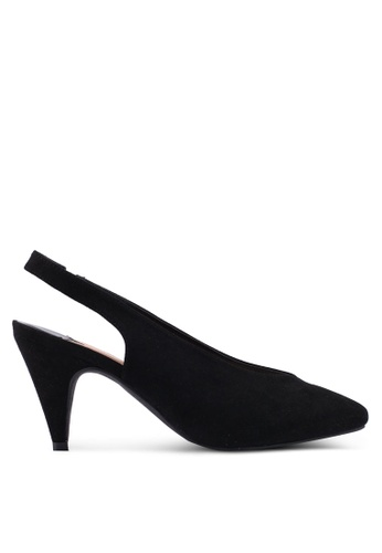 Dorothy Perkins black Wide Fit Black Emma 80'S Slingback Heels 5DCADSH9427367GS_1