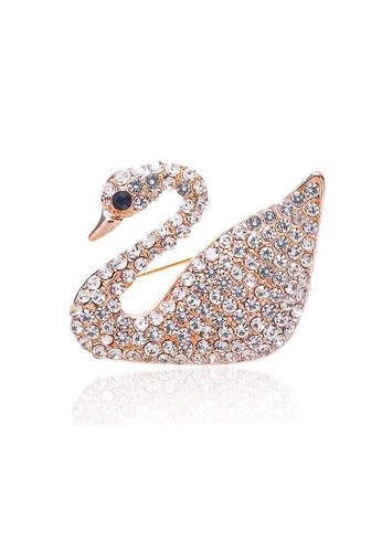 Glamorbit multi Brooch Swan With Cubic Zirconia 21390AC8AC3C53GS_1