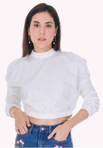 db657d97b1702c Buy Nichii Cropped Cotton Poplin Top Online | ZALORA Malaysia