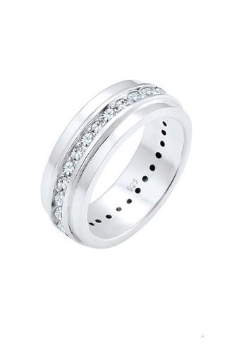 Elli Germany silver Perhiasan Wanita Perak Asli - Silver Cincin Clasic Crystal 1A7AFAC1F310C9GS_1