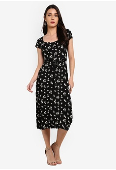 70426792a0c3 Dorothy Perkins Petite Black Ruched Midi Dress S$ 59.90. Sizes 6 8 10 12 14