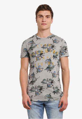 Jack & Jones grey Jorfade Tee JA987AA0S4K8MY_1