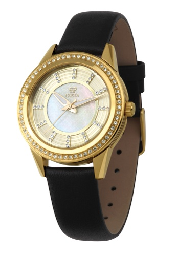 CLETA black and gold Diletto Watch CL733AC77FUCPH_1