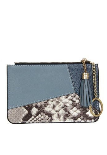 HAPPY FRIDAYS Color Matching Snake Texture Leather Wallet JN30 0D3F4AC8E64AADGS_1