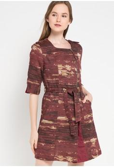 Etoile D Elfas beige Sephora-Square Neck Zipped Double Breasted Dress  ET604AA18TPTID 1 8dd3f341c3