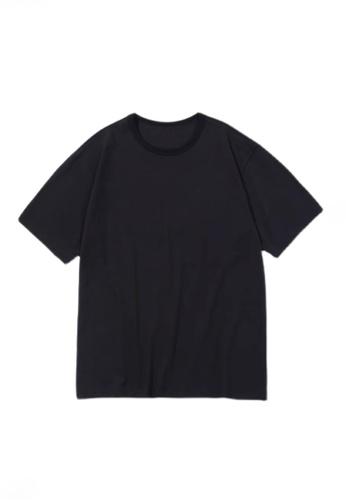 Twenty Eight Shoes 黑色 VANSA 男女款純色短袖T恤  VCU-T223 68CADAA58487E7GS_1