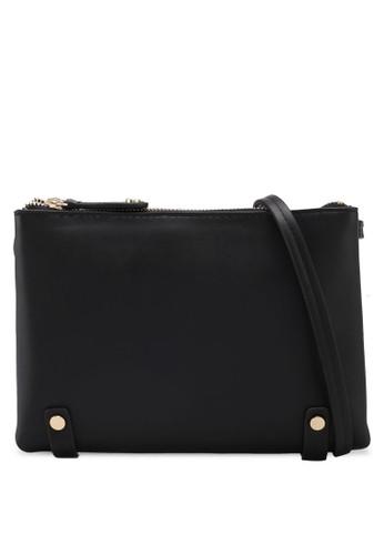 ZALORA black Double-Compartment Crossbody Bag CFCFBAC42682D7GS 1 46020ecbf3