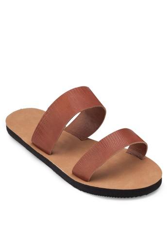 Sara Double Strap Slide Sandesprit hk分店als, 女鞋, 涼鞋