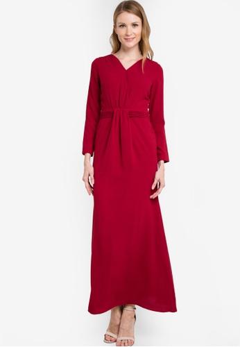 VERCATO red Adele Wrap Dress VE999AA38RYZMY_1