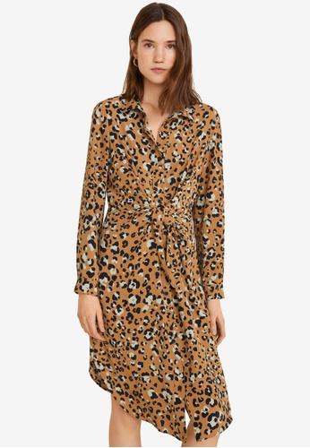 cda68cc4c42c Buy Mango Leopard Print Dress   ZALORA HK