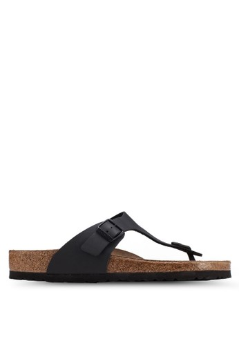 Birkenstock black Gizeh Birko-Flor Sandals BI090SH0UCZLID_1