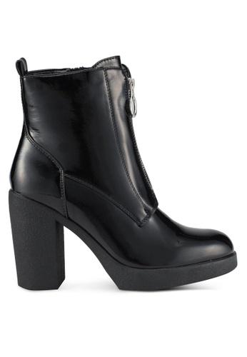 ALDO black Cerasien Patent Boots AL087SH0SEM0MY_1