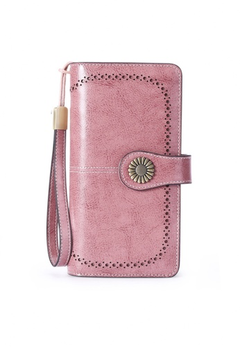 Twenty Eight Shoes pink VANSA Burnished Leather Bi-Fold Long Wallet VBW-Wt5162 FF055ACEAEDF33GS_1