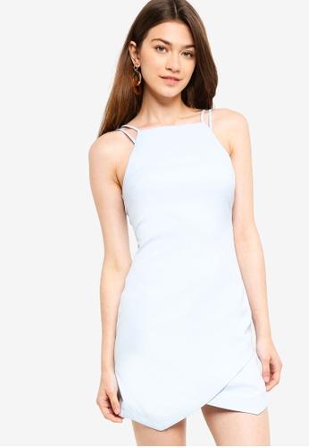 Something Borrowed blue Strappy Bodycon Mini Dress 231BBAA6D9160FGS_1