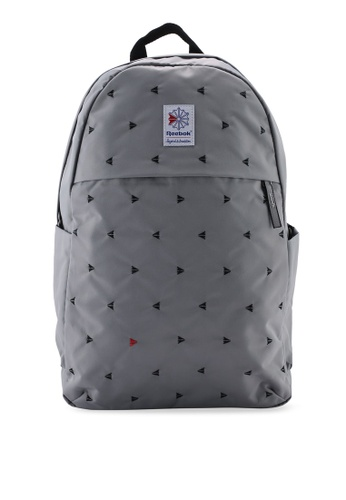317452f97 Reebok grey Classic Foundation JWF Graphic Backpack 13480AC6589F44GS_1.  CLICK TO ZOOM