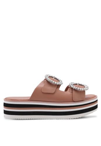ALDO pink Vydien Wedge Sandals E3852SHA439E5AGS_1
