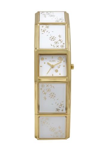Alba gold ALBA Jam Tangan Wanita - Gold White - Stainless Steel - AC3T06 FC958AC150AAFDGS_1