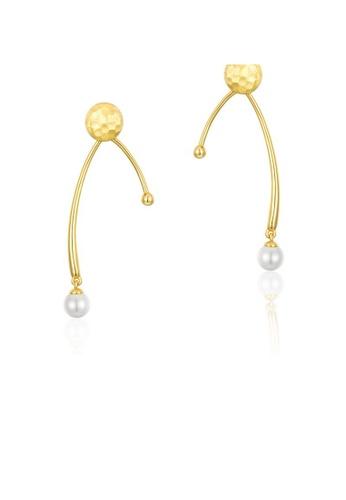 SUNSET 金色 Premium 925 Sliver Pearl Earring 0B5EFAC8342E52GS_1