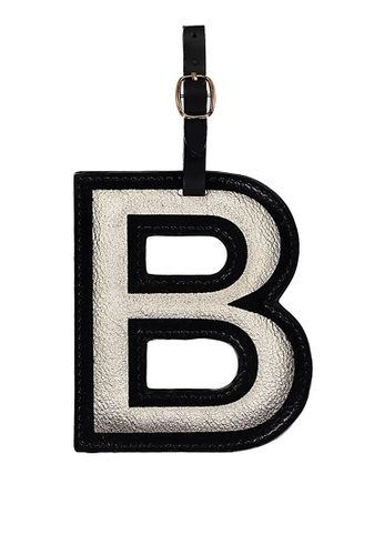 Typo silver Shaped Alpha Luggage Tag 53736AC84224C2GS_1
