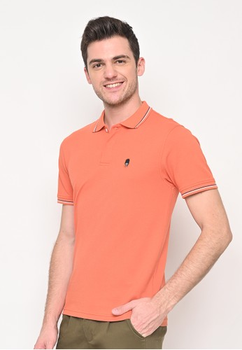 Skelly orange Skelly Guardian Classic Polo In Peach DB42AAA2F8D907GS_1