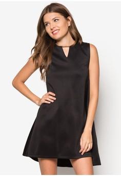 Dipped Hem A-Line Dress