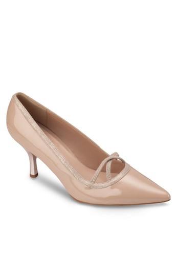 漆皮拼接尖頭高跟鞋, 女esprit分店地址鞋, 厚底高跟鞋