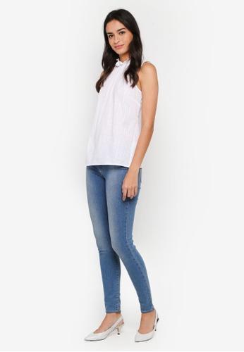 cf0306f7b701a Buy WAREHOUSE High Neck Sleeveless Blouse Online on ZALORA Singapore