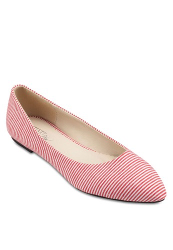Pesprit hk分店lay! Ollie 條紋平底鞋, 女鞋, 鞋