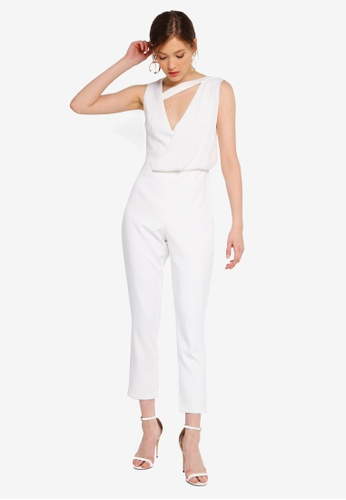 Lavish Alice white Drape Layer Tapered Jumpsuit 7B6A0AA290132CGS_1