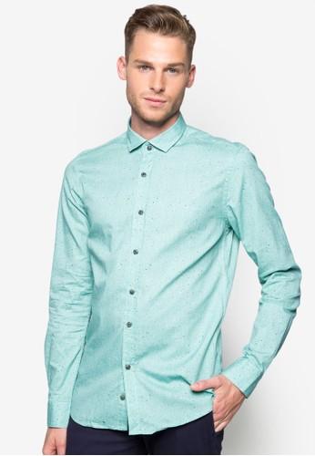 印花貼esprit outlet 桃園身長袖襯衫, 服飾, 襯衫