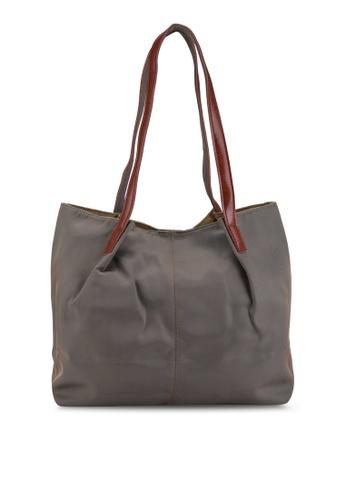 NUVEAU brown Oxford Nylon Tote Bag D12EAAC26AAFDDGS_1