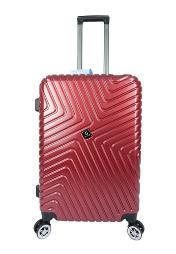 Poly-Pac red GiorX GXA2070 20inch Ultra Strength Anti Scratch Polycarbonate Expendable Hard Case Luggage 08161AC08C8268GS_1