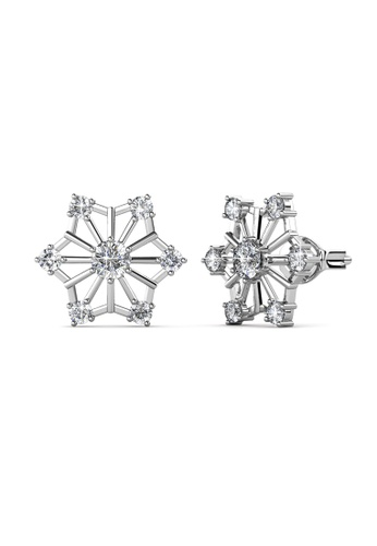 Her Jewellery silver Swarovski® Crystals - Snowflakes Earrings (18K White Gold Plated) Her Jewellery HE581AC0SID0MY_1