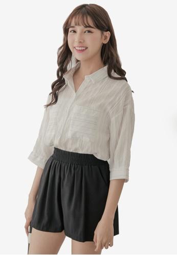 45993106b2b4bc Buy Eyescream Stripe Overlay Shirt Online on ZALORA Singapore