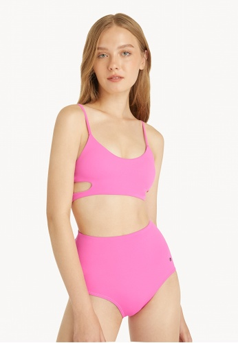 Pomelo pink High Waisted Bikini Bottom - Pink B28B3US3C1C3FEGS_1