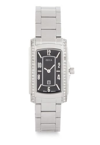 ZECA silver Zeca Watches Ladies Fashion Stainless Steel Analog - 1008LA Silver Black 1B6DAACD53E83FGS_1