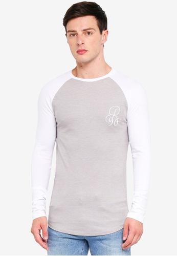 River Island 褐色 雙色品牌刺繡T恤 3F158AAF070C35GS_1