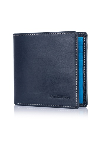 ENZODESIGN blue Italian Leather Streetcasual Bi-fold Wallet (10 card slots) EN357AC0FP6YSG_1
