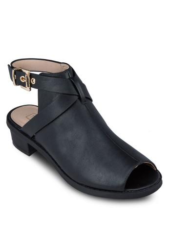 Birt 繞踝topshop hk鏤空魚口短靴, 女鞋, 鞋