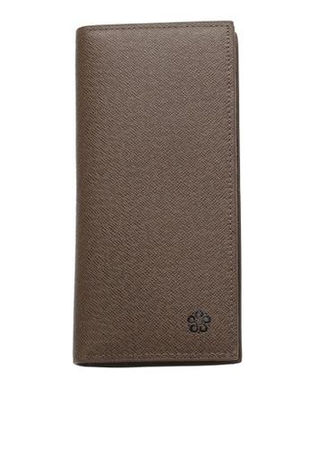 Wild Channel brown Men's Genuine Leather RFID Blocking Bi Fold Long Wallet FFB1BAC9EB53BCGS_1
