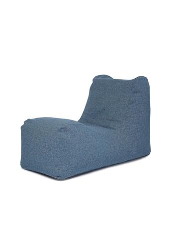 SoftRock blue BOHEMIAN – Linen-Style Upholstery SoftRock Bean Bag Recliner (Deacon) 83186HL6FAFD83GS_1