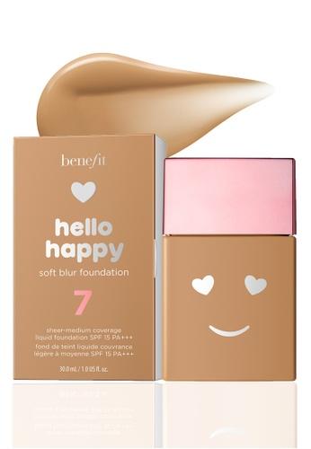 Benefit beige Hello Happy Soft Blur Foundation Shade 07 F1675BE4C31ECCGS_1