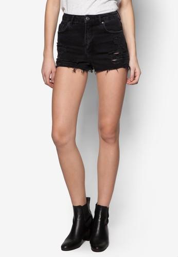 MOTO 刷破牛仔短褲, zalora時尚購物網的koumi koumi服飾, 短褲