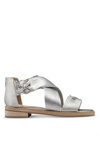 VANESSA WU silver Miya Sandals 77458SH26286D0GS_1